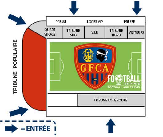Stade ange casanova Seating Plan