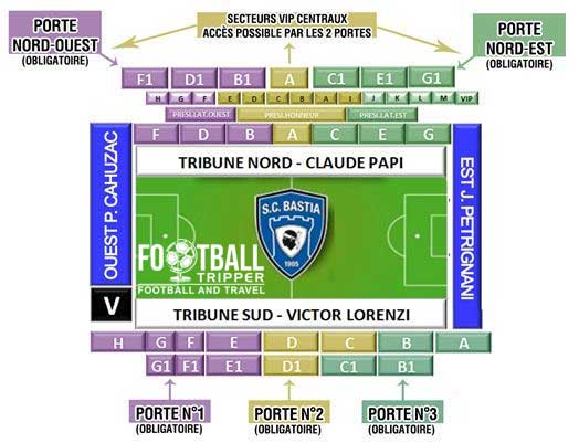 stade armand cesari Seating Plan