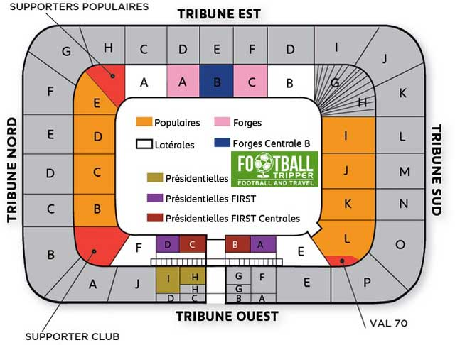 Stade Bonal Seating Plan