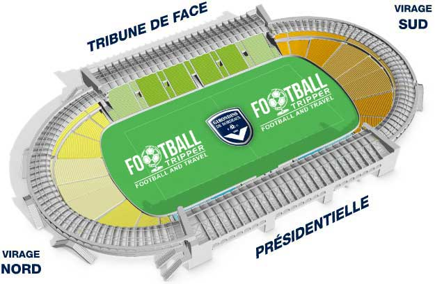 stade chaban delmas Seating Plan