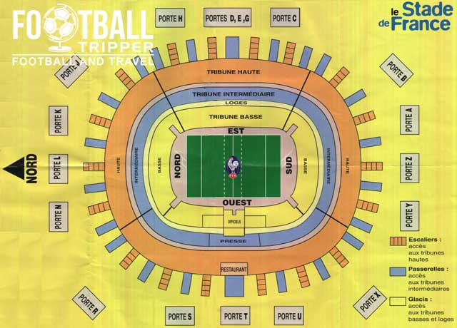 Old School Seating Plan of Stade de France