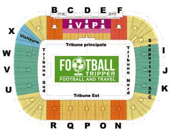 Servette FC's stadium seating plan