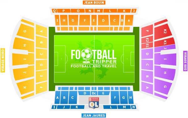 Stade de Gerland Seating Plan