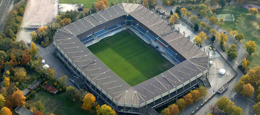 Aerial view of Stade de la Meinau