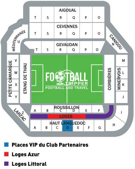 stade de la mosson Seating Plan