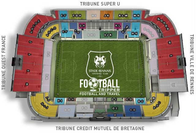 stade de la route Seating Plan