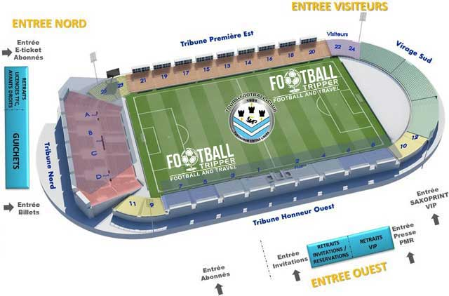 stade de la valle du cher Seating Plan