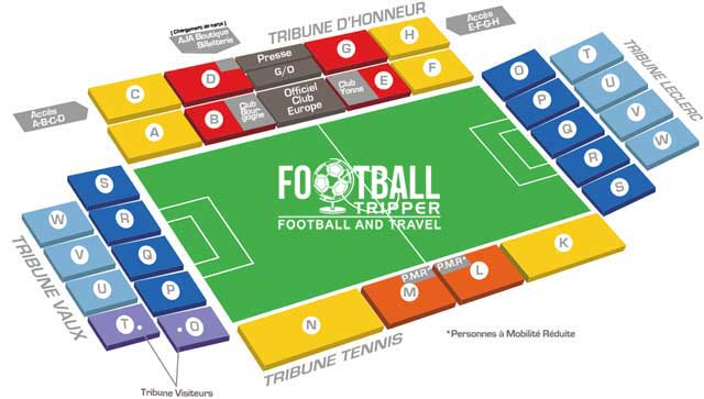 stade de l'abbe deschamps Seating Plan