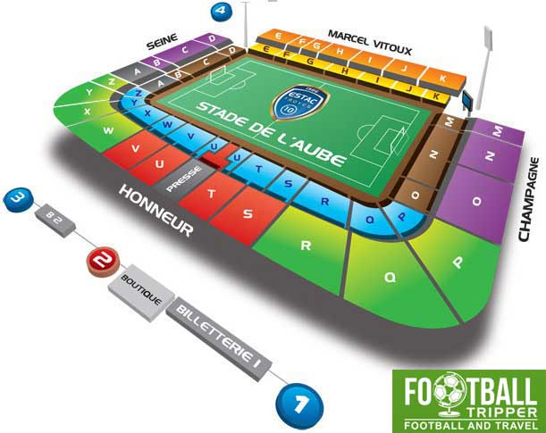 Stade de l'aube troyes Seating Plan