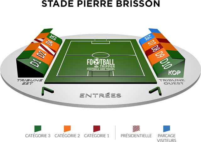 Stade de Paris map