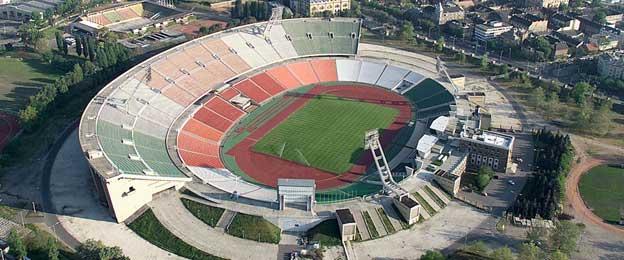 Aerial view of Stade du 5 Juillet