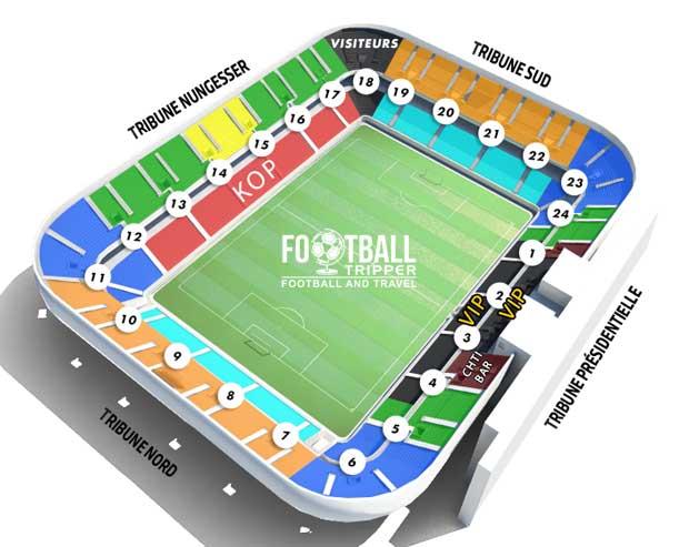 Stade du Hainaut Seating Chart