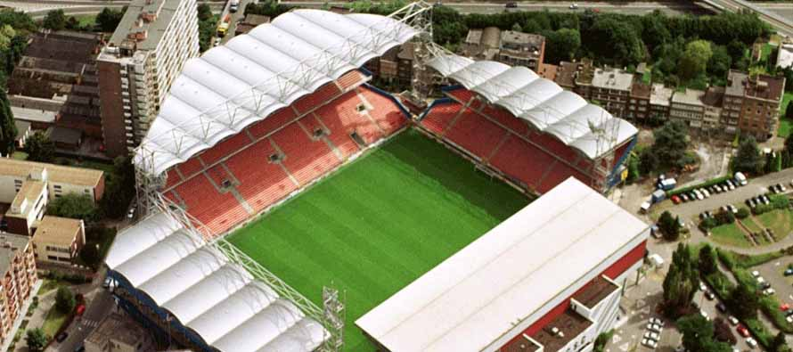 Aerial view of Stade du Pays De Charleroi