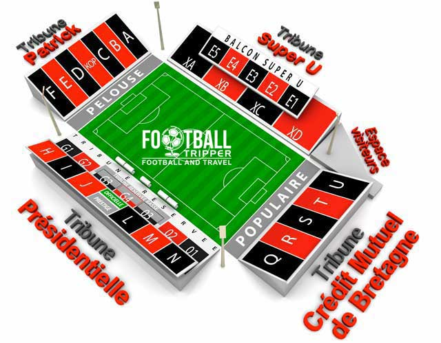 stade du roudourou Seating Plan