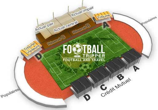 stade francis le basser Seating Plan