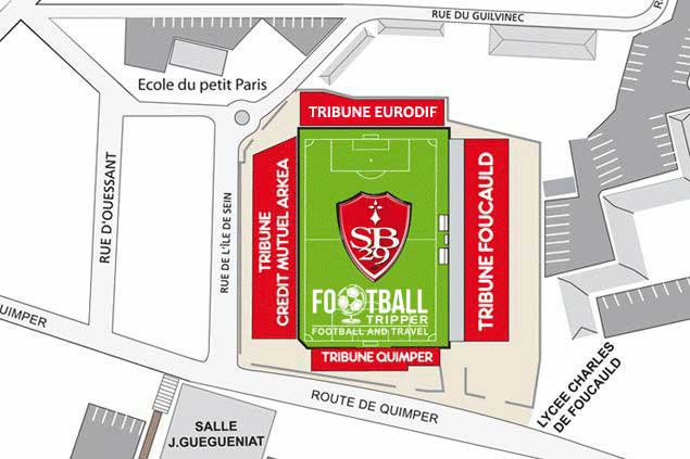 Stade francis le ble Seating Plan