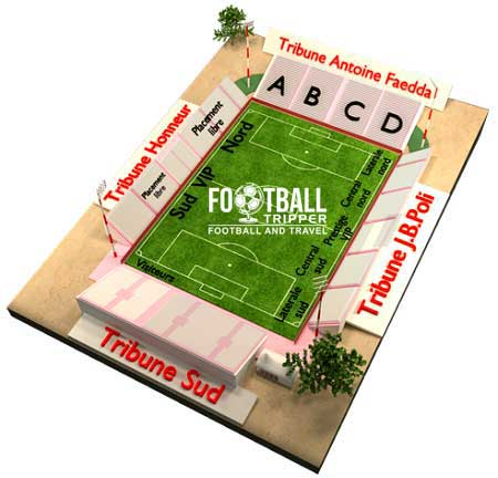 Stade Francois Coty Seating Plan
