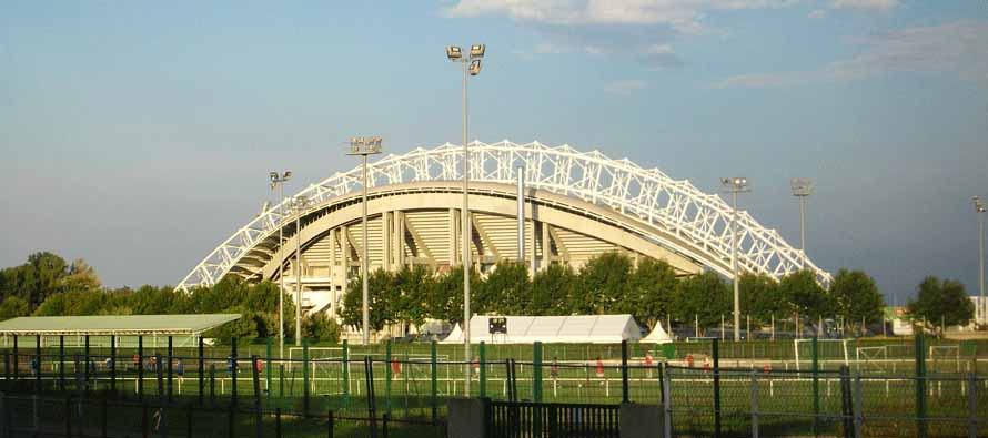External view of Stade Gabriel Montpied main stand