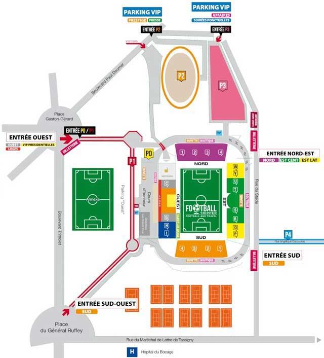 Stade Gaston Gerard Seating Plan