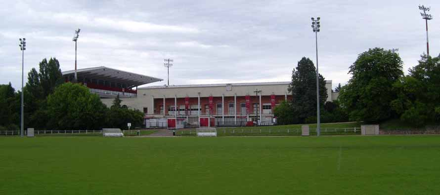 Low angle external view of Stade Gaston Gerard
