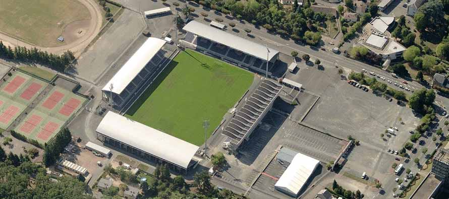 Aerial view of Stade Gaston Petit