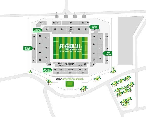 Stade Geoffroy Guichard Seating Plan