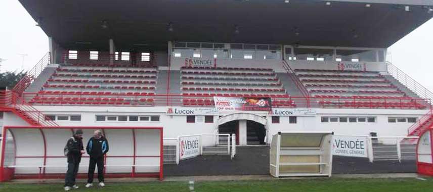 Main stand of Stade jean de Mouzon