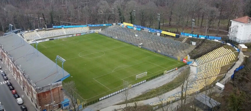 Aerial view of Stade Joseph Marien