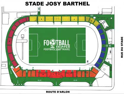 Luxembourg National Stadium seating plan