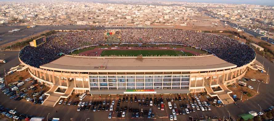 Aerial view of Stade Leopold Sedar Sengh