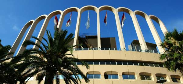 Stade Louis II's famous arches