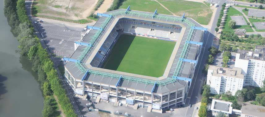 Aerial view of Stade Louis Dugauguez