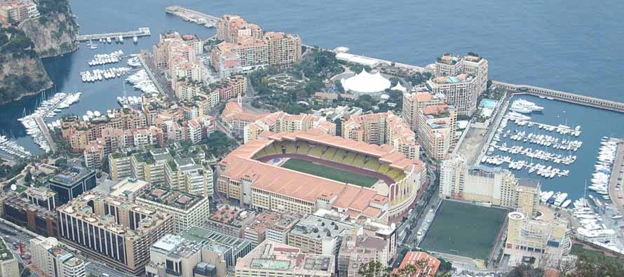 Aerial View of Stade Louis II