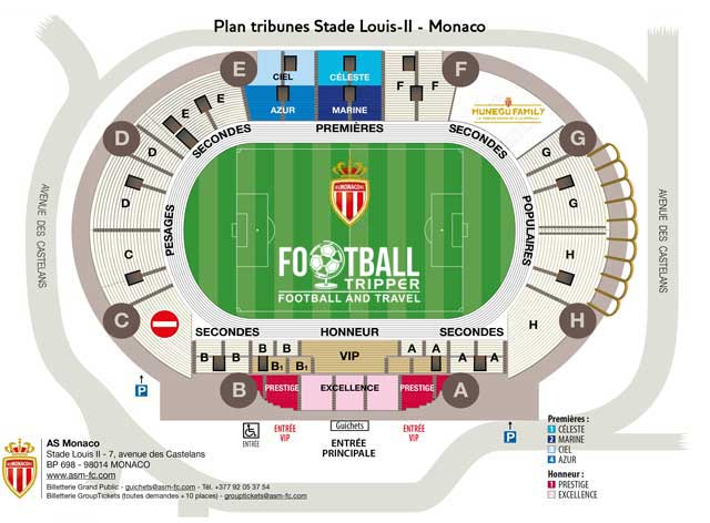 stade luis 2 Seating Plan
