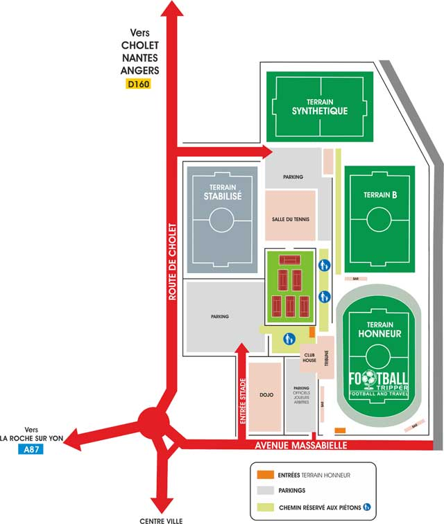 Stade Massabielle access map