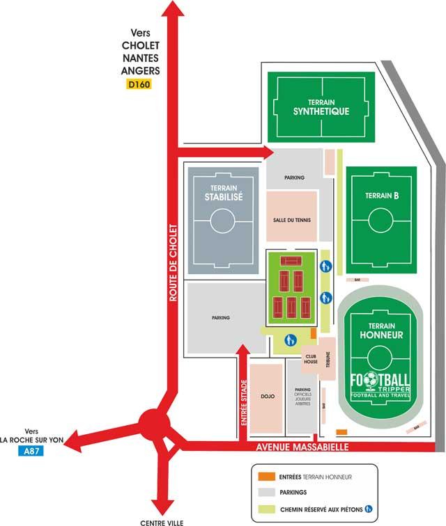 Stade Massabielle access map