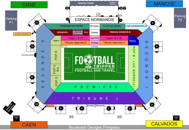 stade michel d'ornanao Seating Plan