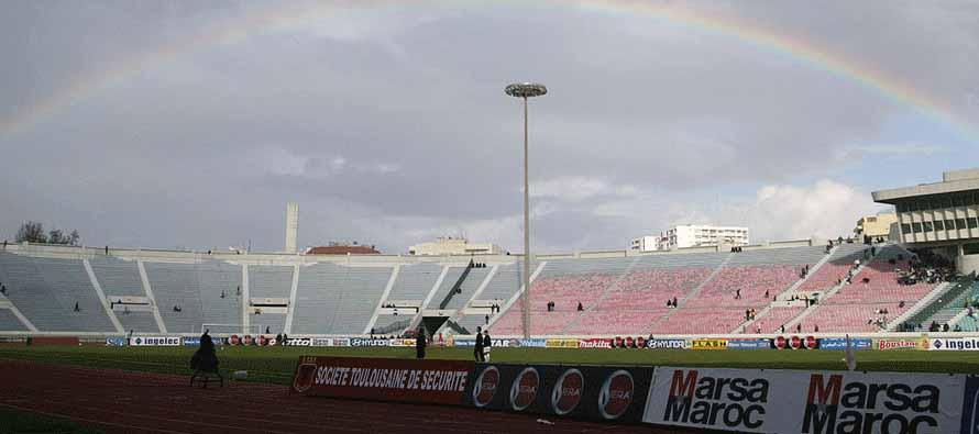 Rainbow at Stade Mohamed V