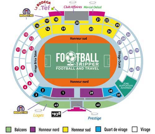 stade municipal toulouse Seating Plan