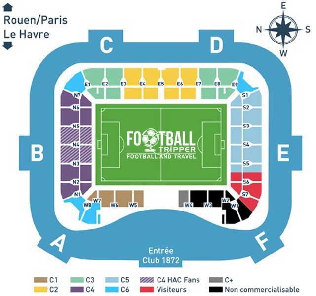 Stade Ocean Seating Plan le havre