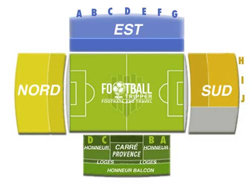 Stade Parsemain Seating Plan