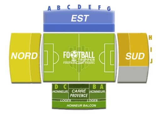 Stade Parsemain Seating Plan