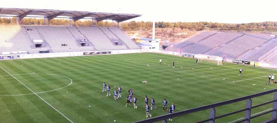 players training in stade parsemain