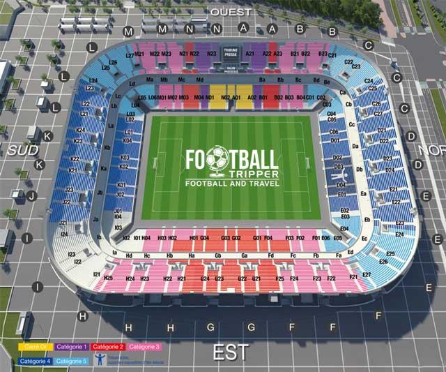 stade pierre mauroy Seating Plan