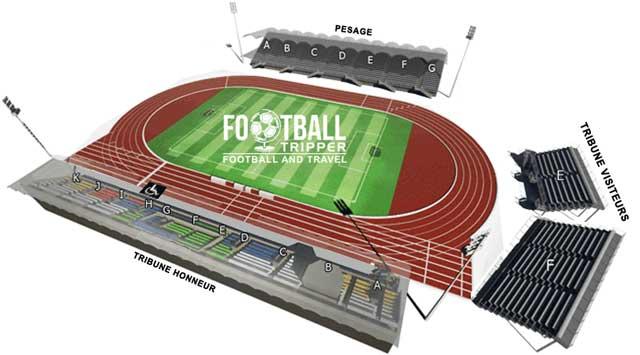 Stade René Gaillard seating map