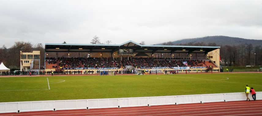 The main stand at Stade Roger Serzian