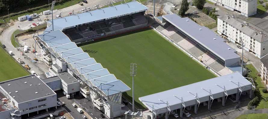 Birds eye view of Stade Roudouro