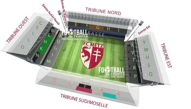 stade saint symphorien Seating Plan