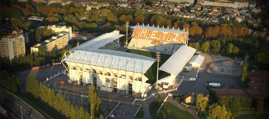 stade saint symphorien aerial view