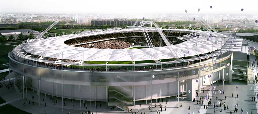 A rendered look at Stade Toulouse's exterior